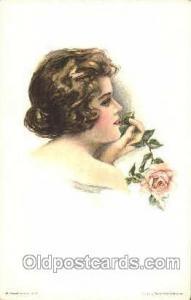 Artist Pearle Fidler LeMunyan Postcard Post Card American Girl No 118 Artist ...
