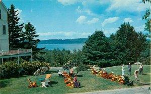 Postcard Soo Nipi Lodge, 9 Hole Putting Green, New London, NH