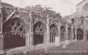 CANTERBURY, Kent, England, PU-1918; Canterbury Cathedral, The Cloisters