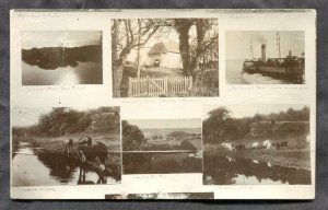 dc744 - SEAFORD England Area Multiview 1903 Real Photo Postcard