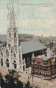 Air view, St. Mary's Cathedral and Glebe House, Halifax, N.S., Canada, PU_00-10s