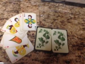 Hallmark Playing Cards ;Double Deck Bridge Set w/Case- IVY