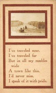 LP66    Dike  Iowa Vintage Postcard RPPC  Small Street View