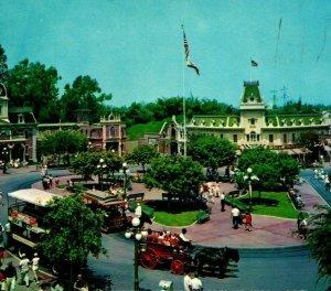Disneyland Magic Kingdom Town Square Main Street Anaheim CA 1960s Postcard