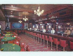 1958 Golden Nugget Casino Bar Restaurant Las Vegas Nevada NV v8226-13