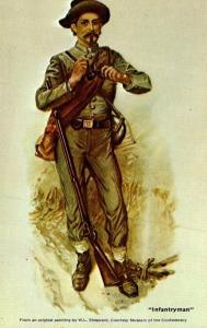 Confederate Uniforms Infantryman By William Ludwell Sheppard