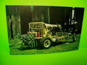 Bed Buggy Postcard Beatnik Race Car George Barris 60's Original Monogram Hot Rod