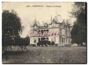 Postcard Old Gueugnon Castle Chargere