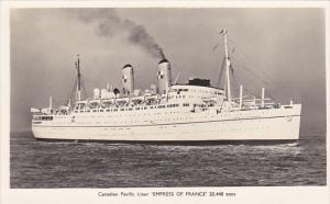 Canadian Pacific Liner Empress Of France Real Photo