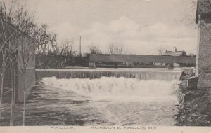 Falls and Railroad Bridge - Honeoye Falls NY, New York - pm 1909 - DB