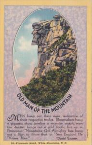 New Hampshire Franconia Notch The Old Man Of The Mountains Curteich