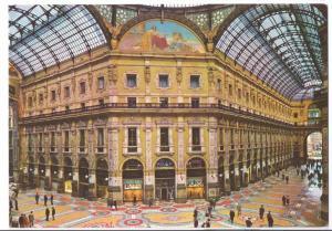 Italy Milan Galleria Vittorio Emanuele Interior 4X6 Postcard