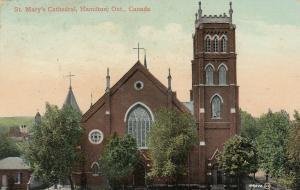 HAMILTON, Ontario, Canada, PU-1910; St. Mary's Cathedral
