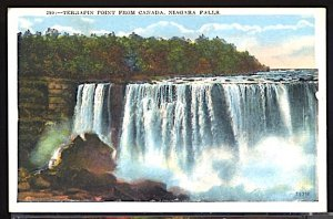USA Postcard  Niagara Falls Terrapin Point From Canada