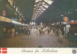 Kobenhavn Railway Station Buffet Fast Food Denmark 1980s Postcard
