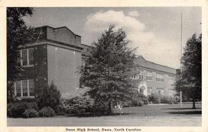 Dunn North Carolina High School Street View Antique Postcard K97590