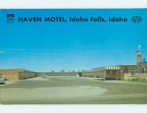 Unused Pre-1980 HAVEN MOTEL Idaho Falls Idaho ID u2921