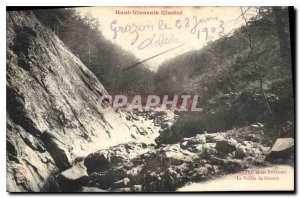 Postcard Old High Vivarais Illustree the Vallee de Grozon