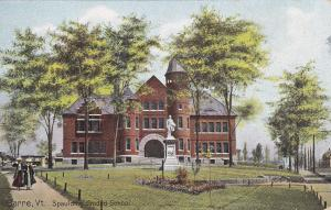 BARRE, Vermont, PU-1910; Spaulding Graded School