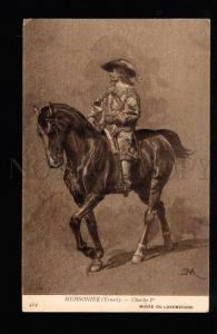 047316 King Charles 1 on HORSE by Meissonier vintage