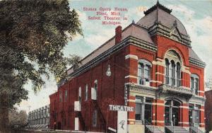 Flint Michigan view of Stones Opera House Theatre antique pc ZA440596
