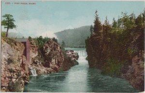 POST FALLS - 1909 view / near Coeur d'Alene / Gooding ID cancel