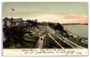 1905 Milwaukee, Whitefish Bay, WI, Hand-Glittered Postcard