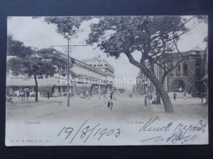 Sri Lanka / Ceylon COLOMBO York Street c1903 UB Postcard by A.W.A. Plate & Co.
