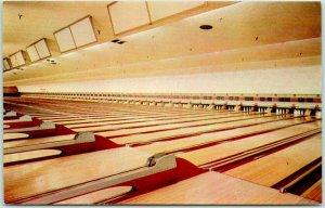 Mountainside, New Jersey Postcard ECHO LANES Bowling Alley Dexter Chrome c1950s