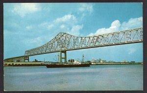 Louisiana NEW ORLEANS New Mississippi River Bridge April 15, 1958 CHROME
