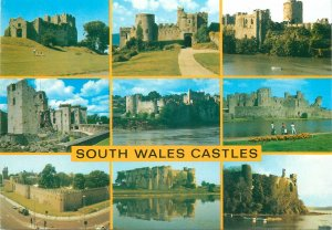Postcard South Wales Castle historical landmarks various pictures