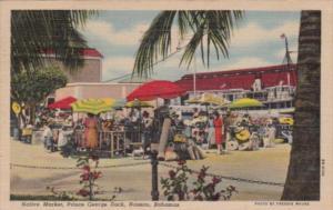 Bahamas Nassau Native Market Prince George Dock 1952 Curteich