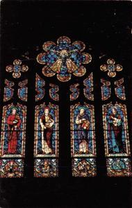 Mason City Iowa~4 Apostles Figures on Stained Glass Window~Holy Family Catholic