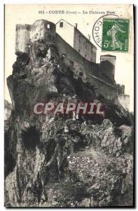 Old Postcard Corte Le Chateau Fort