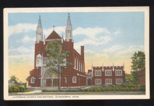 WADSWORTH OHIO LUTHERAN CHURCH RECTORY VINTAGE POSTCARD