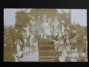KNUTSFORD Royal May Day Festival MAY DAY Throne Scene c1908 RPPC by Neils