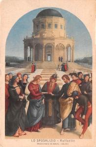 Italy Old Vintage Antique Post Card Lo Sposalizio Raffaello Unused