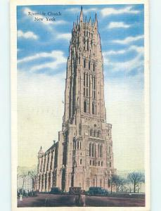 Linen RIVERSIDE CHURCH SCENE Manhattan New York NY p4733