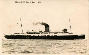 UK - Isle of Man - Isle of Man Steam Packet Co., SS Lady of Mann    *RPPC