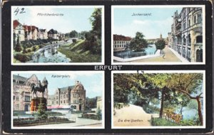 Erfurt Germany - sites like the Kaiserplatz in this historic town 1920s