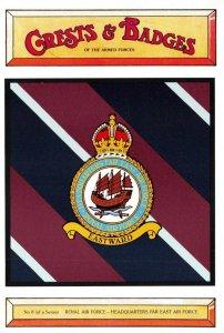 Postcard RAF Royal Air Force HQ Far East Air Force Crest Badge No.8 NEW BK8