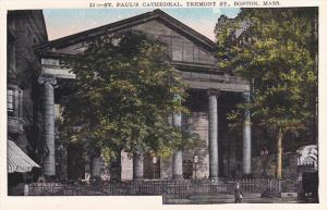 St. Paul's Cathedral, Tremont Street, BOSTON, Massachusetts, 1910-1920s