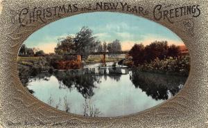 South Africa Durban bridge view Christmas greetings postcard