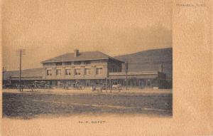 Missoula Montana NP Depot Street View Antique Postcard K86196
