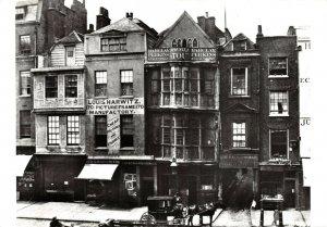 Victorian London reproduction Postcard, Sir Paul Pindar, Bishopsgate 97X