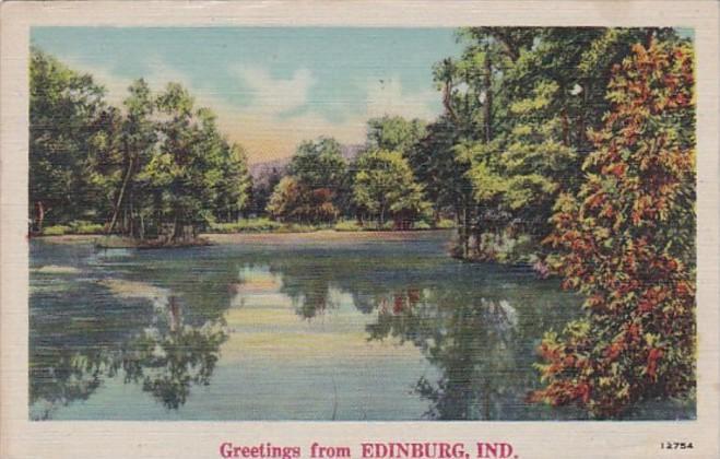 Indiana Greetings From Edinburg 1945