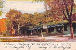 Washington New Jersey~St Cloud Hotel~Henry C Webster, Propr~1906 Adv Postcard