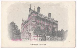 London; New Scotland Yard PPC, 1905 London W PMK By W Straker, Ludgate Hill