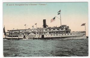 Steamer Toronto  R & O Navigation Canada 1910s postcard