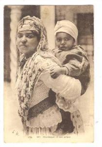 Algerie.-Mauresque et son enfant, 00-10s